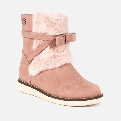 Girls faux Fur detailed Ankle Boots Mayoral