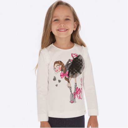 Kid's long-sleeve blouse with ringlets Mayoral