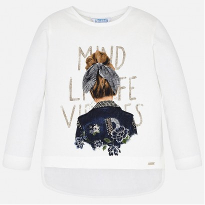Kid's long-sleeve blouse with print Mayoral