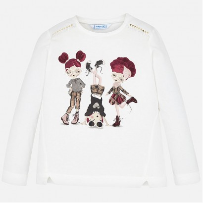 Girl's blouse with colour print Mayoral