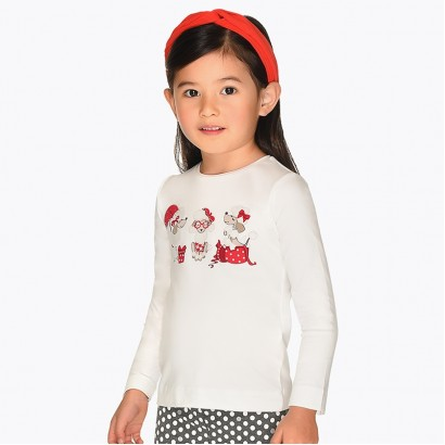 Girl's long-sleeve blouse with print Mayoral