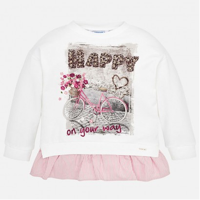 kid's blouse with Happy print Mayoral