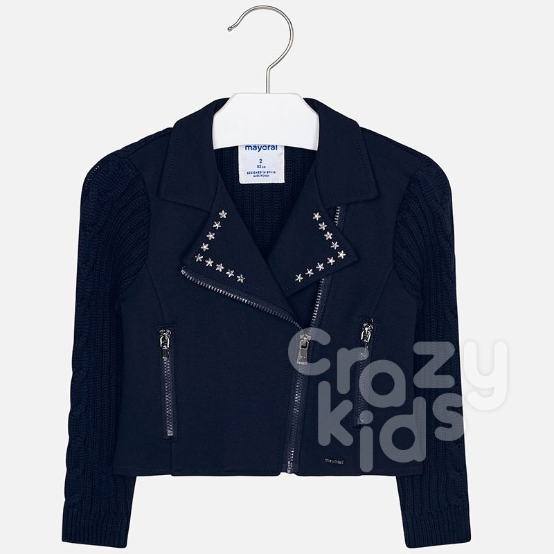 Kids jacket with asymmetrical closing Mayoral