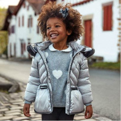 Quilted girl's jacket Mayoral