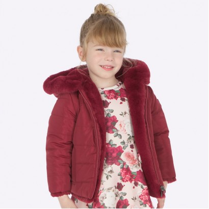 Fluffy girl's two-faced jacket Mayoral