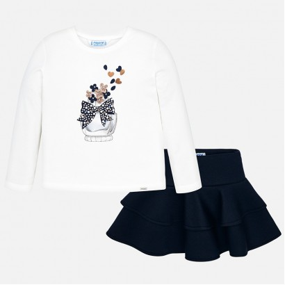 Kids' set Mayoral with one-colour skirt