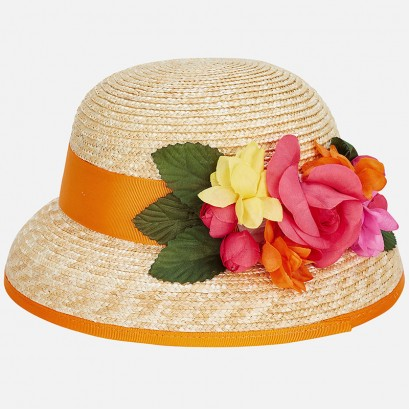 Girls Floral Cloche Hat Mayoral