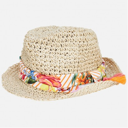 Girls Raffia Brim Hat Mayoral