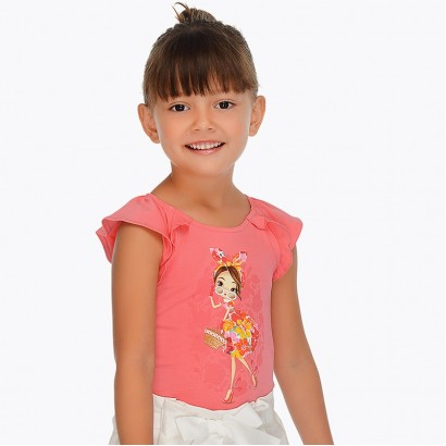 Girls Doll T-shirt Mayoral