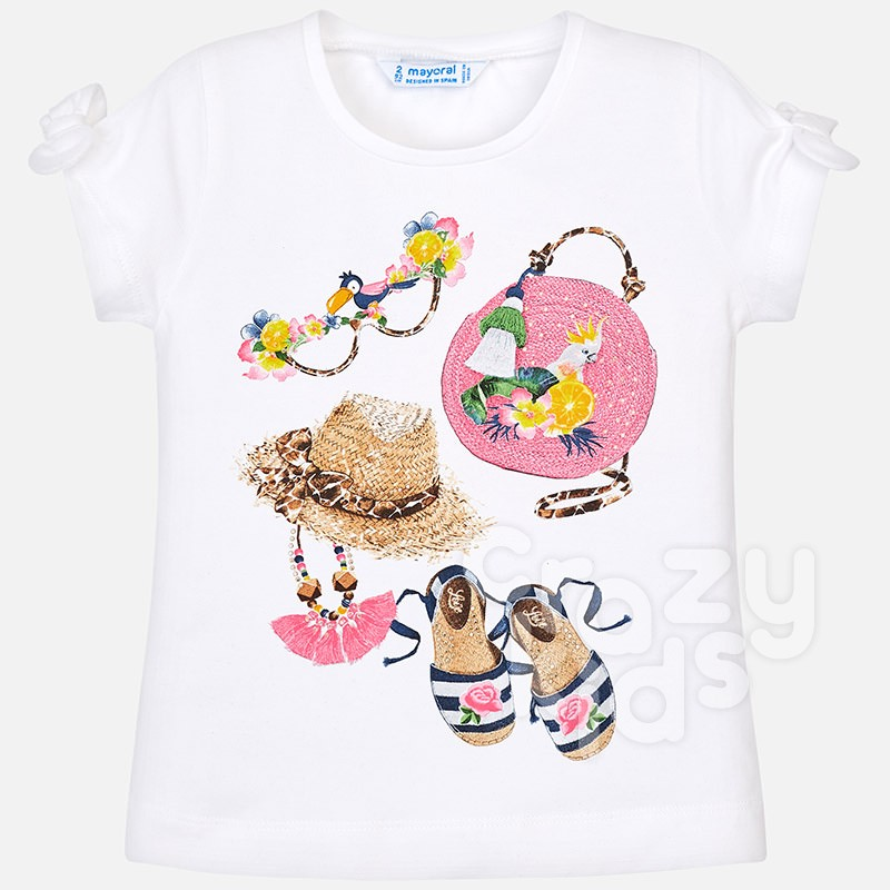Girls Bow Detail Sleeves T-shirt Mayoral
