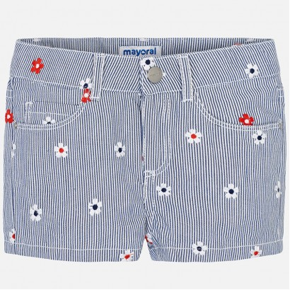 Girls Floral Embroidered Shorts Mayoral