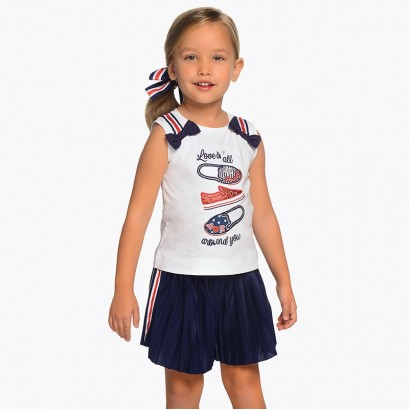 Girls Pleated Shorts and T-shirt Mayoral