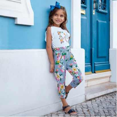 a635a875d7 Kids Floral Trousers Mayoral