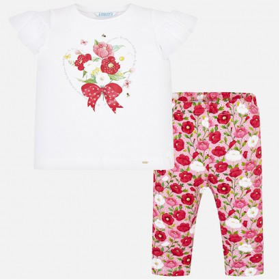 Girls Floral T-shirt and Leggings Set Mayoral