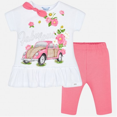 Girls Flower T-shirt and Leggings Set Mayoral
