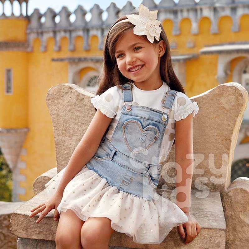 Girls Combined Dungaree Skirt Mayoral