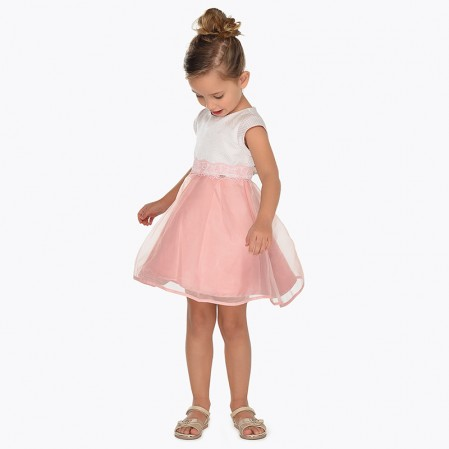 Kids Combined Fabric Dress Mayoral