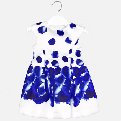 Kids Petal Print Dress Mayoral
