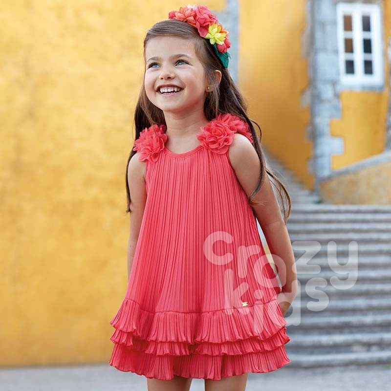 Kids Pleated Frilly Dress Mayoral