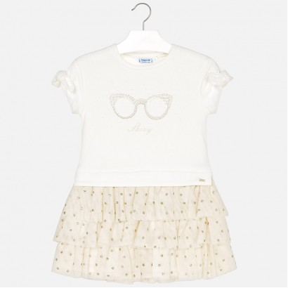 Kids Combined Tulle Dress Mayoral