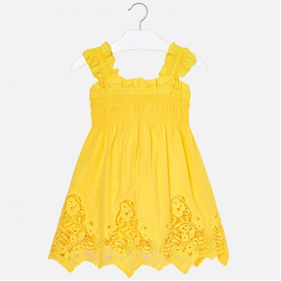 Girls Embroidered Dress Mayoral