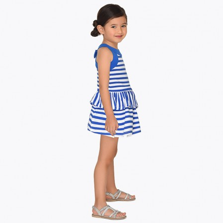 Girls Sleeveless Striped Dress Mayoral