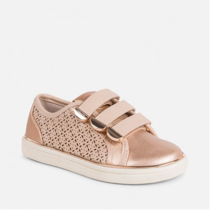 Girls Copper Sneakers Mayoral