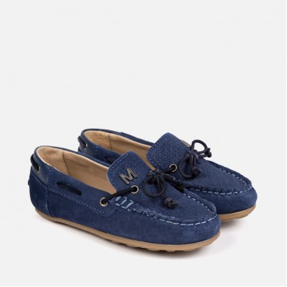Boys Jeans Leather Moccasin Mayoral