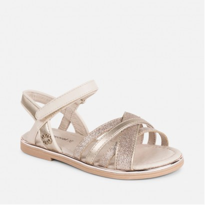 Girls Laminated Sandals Mayoral