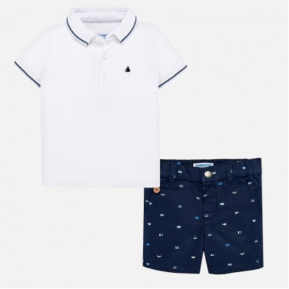 Baby Boys Polo and Shorts Set Mayoral