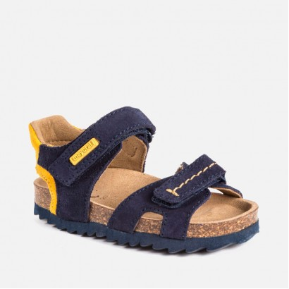 Baby Boys Leather Cork Sandals Mayoral