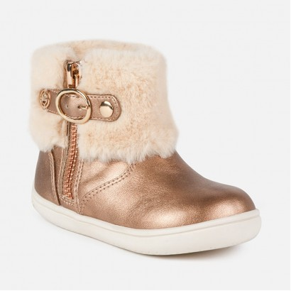 Baby Girl Faux Fur Lined Ankle Boots Mayoral