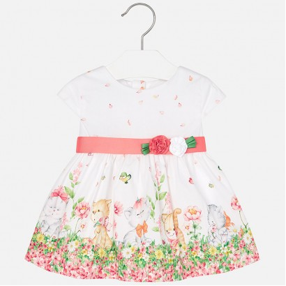 Baby's dress Mayoral with a print and belt