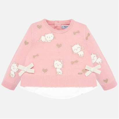Baby girl blouse with kitties Mayoral