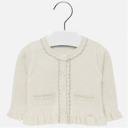 Baby girl cardigan with ringlets Mayoral