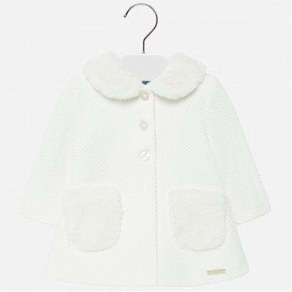 Baby coat with fluffy collar Mayoral.