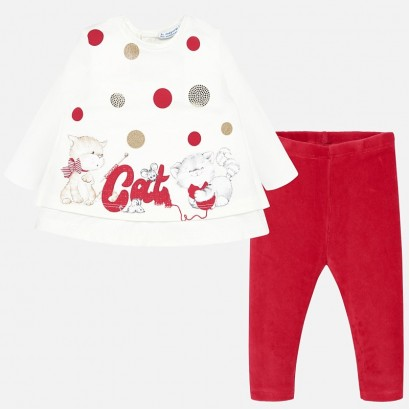 Baby set with tights Mayoral