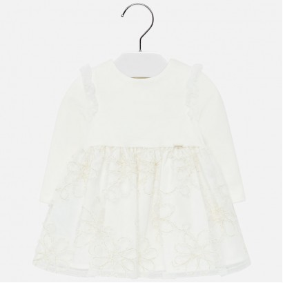 Embroidered baby dress Mayoral