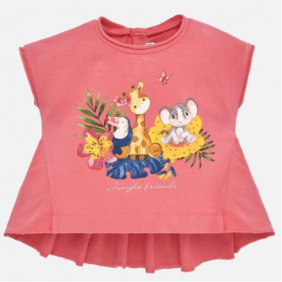 Baby Girls 'Jungle friends' Top Mayoral