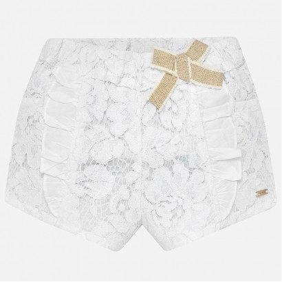 Baby Girls Lace Shorts Mayoral
