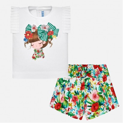 Baby Girls Printed Shorts Set Mayoral