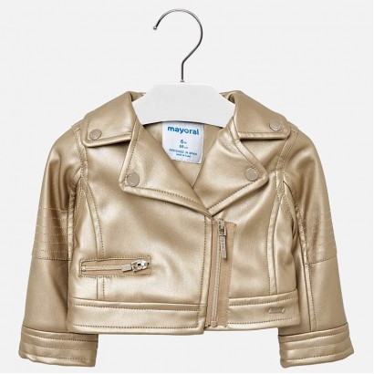 Baby Girls Leatherette Jacket Mayoral