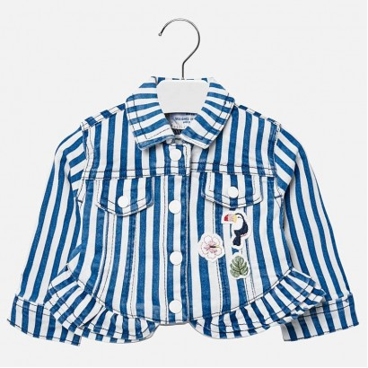 Baby Girls Striped Denim Jacket Mayoral