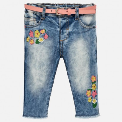Baby Girl Embroidered Jeans Mayoral