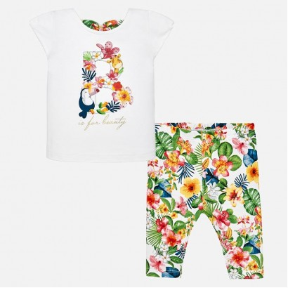 Baby Girls Floral Leggings Set Mayoral