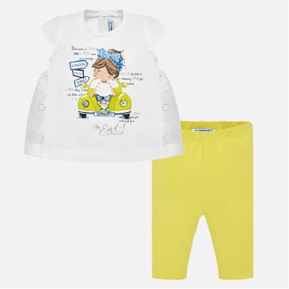 Baby Girls Perforated Top and Leggings Set Mayoral