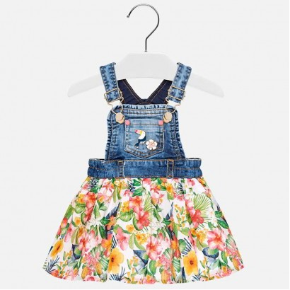 Baby Combined Dungaree Skirt Mayoral