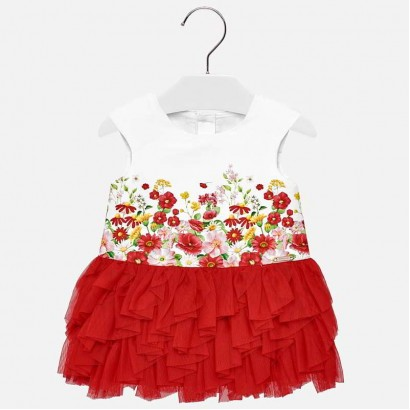 Baby Combined Tulle Dress Mayoral