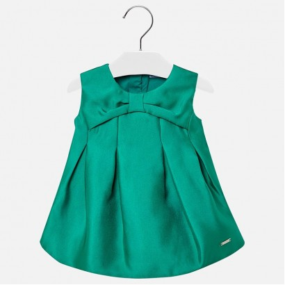 Baby Flared Satin Dress Mayoral