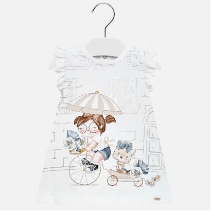 Baby A-line Printed Dress Mayoral